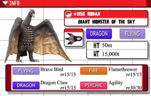 Kaijumon - #1956 Rodan - Giant Monster of the Sky by GreenGimmick