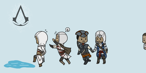 AC- Chibi Assassins by kakaleng1