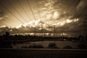 Power lines by evi3z