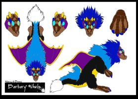 Barbary Whelp design 1- Contest by Feather-Dragon
