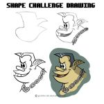 Shape Challenge Drawing (Tough Vampire Dude) by goRillA-iNK