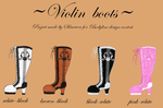 My Bodyline Contest Design - Lolita Violin Boots by Silmeven