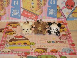 Round Bears Charms Set by kneazlegurl125