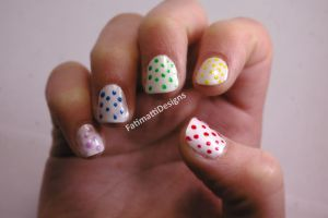 Rainbow Dots by FatimattiDesigns