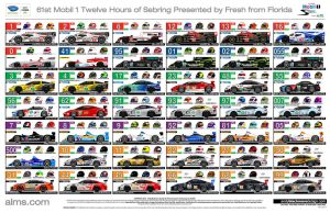 Official ALMS 12hrs Sebring Spotter Guide by andyblackmoredesign