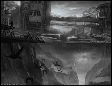 Environment Sketches by DylanPierpont