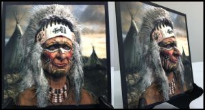 Native American Chief (3D Printed Photo Relief) by lberry1976