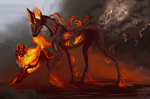 The Fire-Death's walk by Lunewen