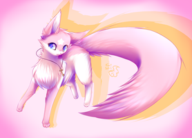 pink cotton fex by FoxiiSpirit