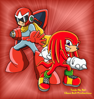 M-S: Proto Man and Knuckles by TanjatheBat