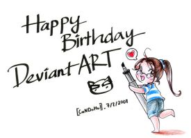 Happy Birthday DeviantART by assscrew28