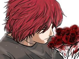 Sasori- The bunch of roses by Shibya