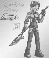 Dockuri NOSEY: The Duelist BW by 44thwindsword