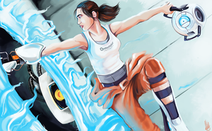 Updated -Chell: Portal 2 by LittleMeesh