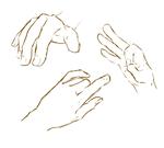 hand sketches by Candaey