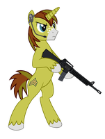Allen Sparkle width M16A3 LMG by DolphinFox