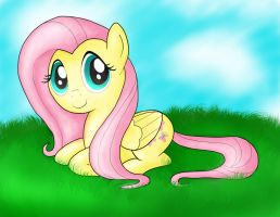 Sitting Fluttershy by iAliean
