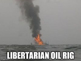 Libertarian Oil Rig by Valendale