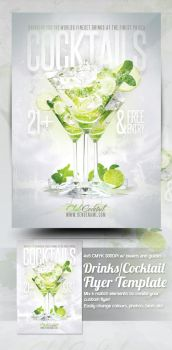 Cocktail Drinks Flyer Template by mrkra