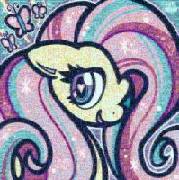 Fluttershy Rainbow Powered (Orig: Crayon Chewer) by TheGreatPony