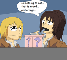 Armin the Arlert and Potato Monster: Mystery Box by Karasu-96