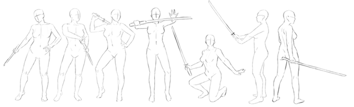 Pose Set Swords by Anadia-Chan