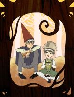 Over the Garden Wall, from day to night. by Voodoo--Dolly
