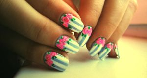 rose nails 2 by N2nnnu