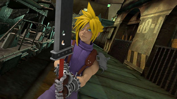 Cloud Strife Final by RakuNana