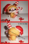 Christmas Bunny with Candy Cane by Zoey-01