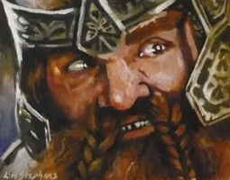 Gimli ACEO by sullen-skrewt