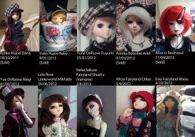 Dolls from 2011-2012 by Blackeyes1001