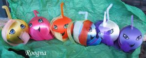 Mane 6 My Little Pony ornaments by Roogna