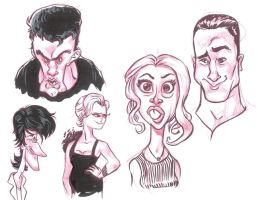 Face Sketches 4 by JeffVictor