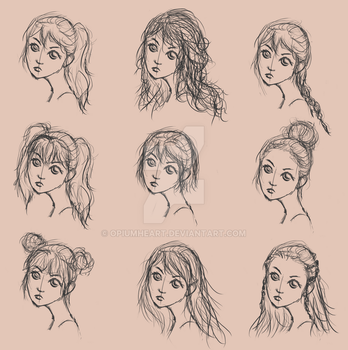 Hairstyles by OpiumHeart