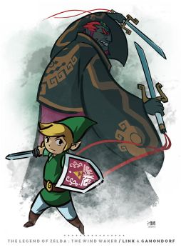 The Legend of Zelda Windwaker - Link and Ganondorf by BrokenNoah