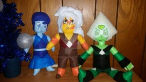 Steven Universe - Homeworld Gems Plushies by LucasPratt