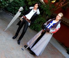 Squall and Seifer by InnocentWsh