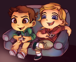The Game Couch - Jon n' Jek by MissionComplete