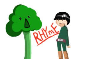 Rock lee vs Broccoli by RedRoseQueen