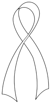 Support Ribbon Line Art by hassified