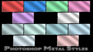 Photoshop Metal Styles by ghostd7