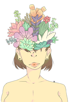 Succulents + REDBUBBLE ANNOUNCEMENT by sophdoodles