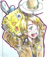 Hetalia : Burger Freaks by spogunasya