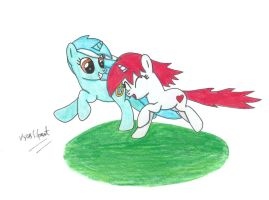 Lyra and Mendheart go Running by UlyssesGrant