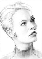 Seven of Nine ACEO portrait by whu-wei