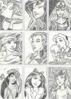 Disney Gals Pencil Sheet by LEXLOTHOR