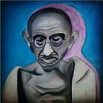 Mahatma Gandhi by PrimalExpression