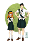 Chiyo and Nozaki Scout girls by Jeannette11