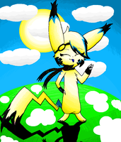 .:Pika Luna on paint:. by LunaticDemonLuny